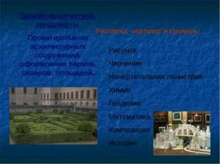 Дизайн-архитектура, ландшафты. Проектирование архитектурных сооружений, оформ