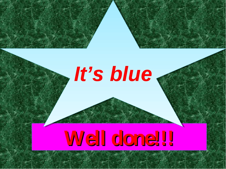 Well done!!! It's blue