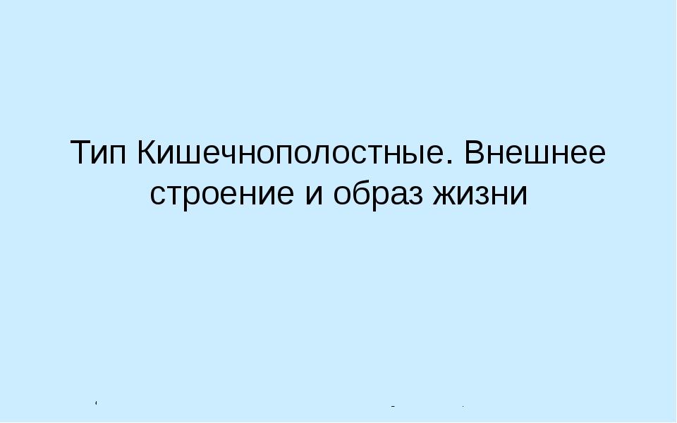 Тип Кишечнополостные. Внешнее строение и образ жизни Автор: Лебедев С.Н. ГОУ...