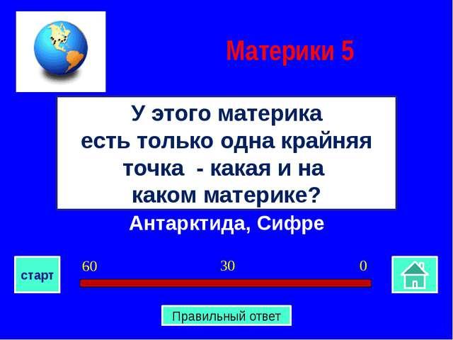 Антарктида, Сифре У этого материка есть только одна крайняя точка - какая и н...