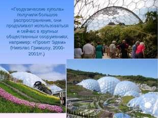 «Геодезические купола» получили большое распространение, они продолжают испол