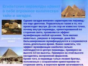 Египетские пирамиды хранят в себе огромное количество тайн и загадок. Однако