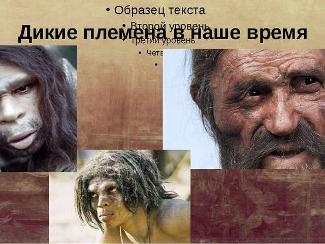 Дикие племена в наше время