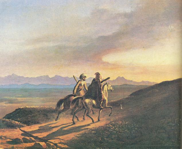 H:\Картины Лермонтова\галерея\Lermontov_Vospominanie_o_Kavkaze_Oil_1838.jpg