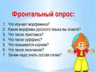 Что изучает морфемика? Какие морфемы русского языка вы знаете? Что такое прис