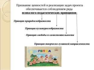 Признание ценностей и реализация задач проекта обеспечивается соблюдением ряд