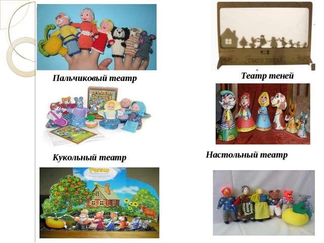 Пальчиковый театр Настольный театр Кукольный театр Театр теней