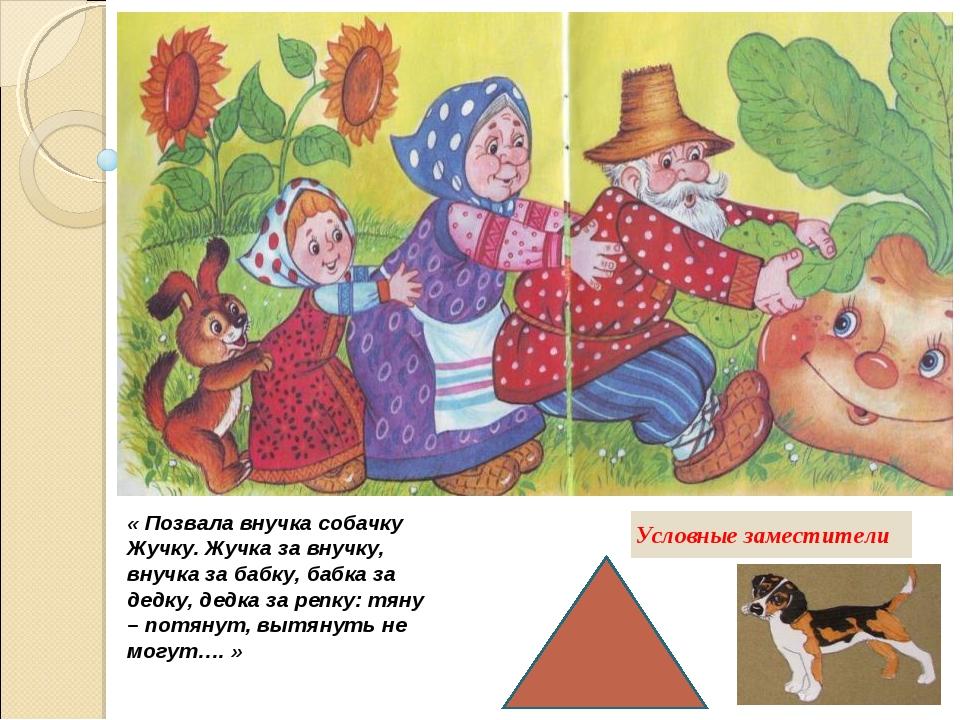 « Позвала внучка собачку Жучку. Жучка за внучку, внучка за бабку, бабка за де...