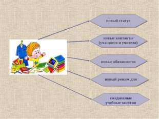 новый статус новые контакты (учащиеся и учителя) новые обязанности новый режи
