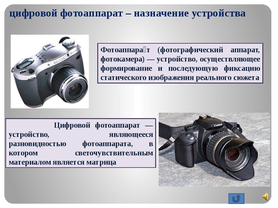 оценили фотоаппарат к какой группе товаров относится вам