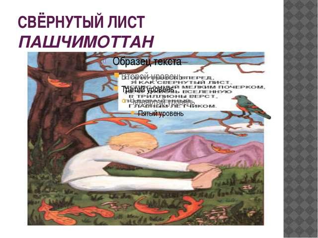 СВЁРНУТЫЙ ЛИСТ ПАШЧИМОТТАН