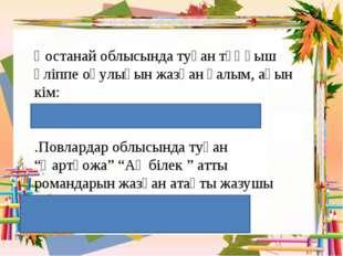 Қостанай облысында туған тұңғыш әліппе оқулығын жазған ғалым, ақын кім: / А.