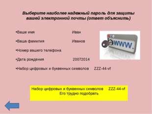 Выберите наиболее надежный пароль для защиты вашей электронной почты (ответ о