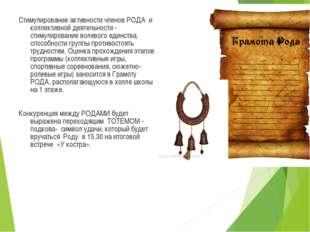 Стимулирование активности членов РОДА и коллективной деятельности - стимулиро