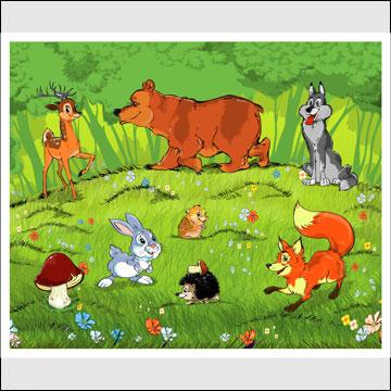 ПАЗЛЫ. Я познаю мир (Животные в деревне; По воде, по земле, по воздуху; Африканские звери, Лесные звери) - Купить игру. Читать о