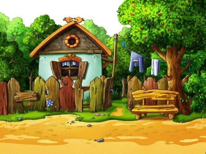 Как нарисовать домик из мультфильмов Сайт о рисовании