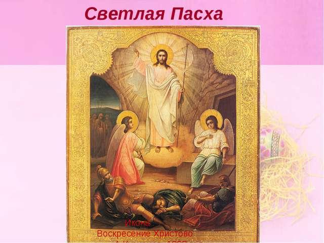 Светлая Пасха Икона Воскресение Христово А.Кузнецов, 1898 год