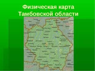 Физическая карта Тамбовской области