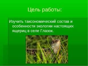 Цель работы: Изучить таксономический состав и особенности экологии настоящих