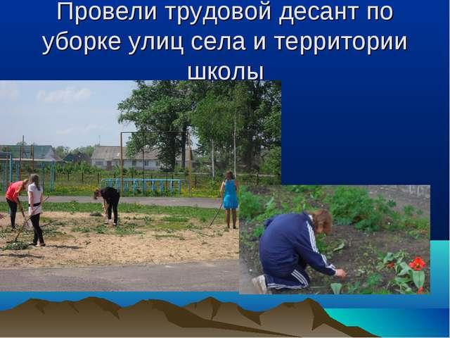 Провели трудовой десант по уборке улиц села и территории школы