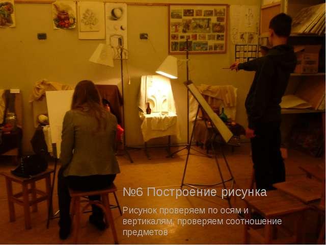 №6 Построение рисунка Рисунок проверяем по осям и вертикалям, проверяем соотн...