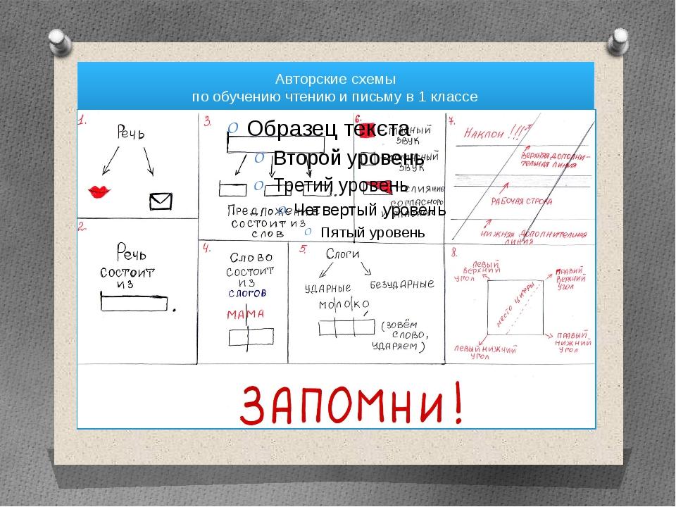 Авторские схемы по обучению чтению и письму в 1 классе