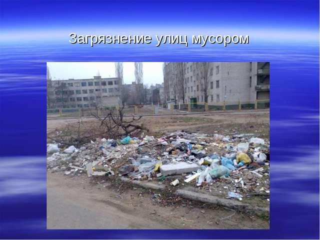 Загрязнение улиц мусором