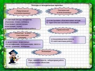 Методы и методические приемы: Перцептивный аспект(восприятие)) Гностический а