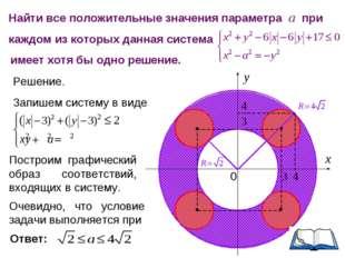 Найти все положительные значения параметра а при каждом из которых данная сис