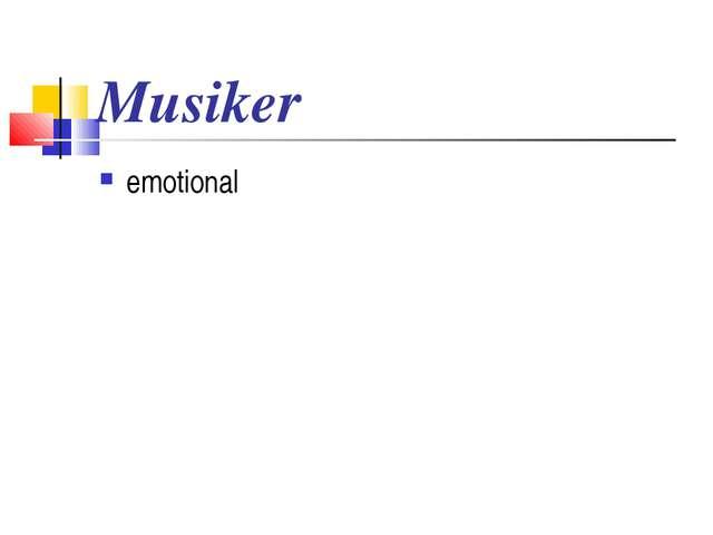 Musiker emotional