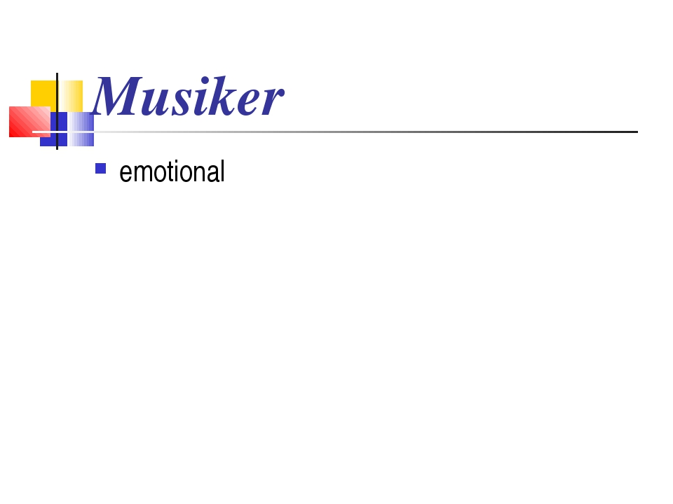 Musiker emotional