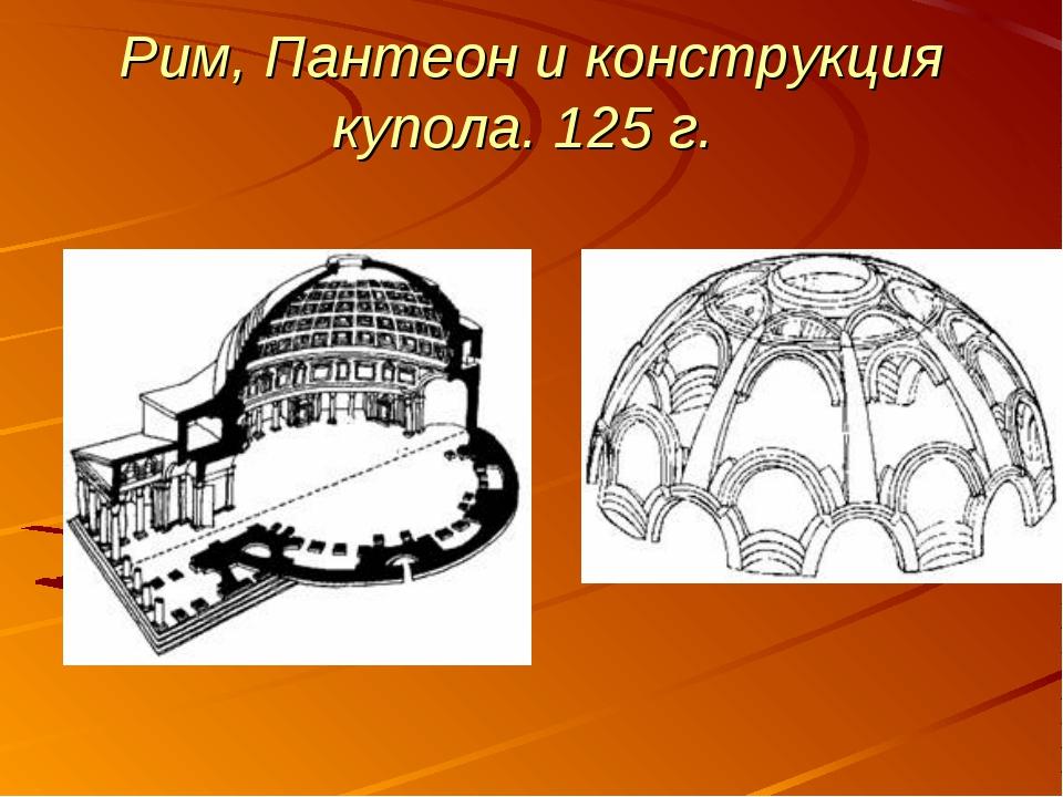 Рим, Пантеон и конструкция купола. 125 г.