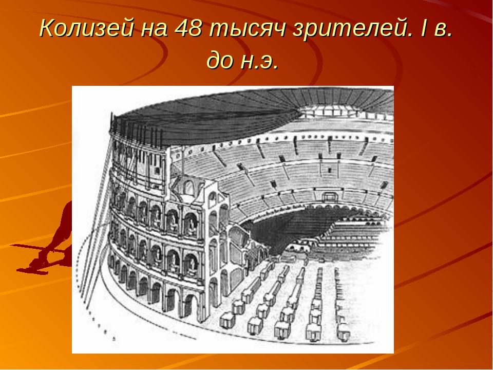 Колизей на 48 тысяч зрителей. I в. до н.э.