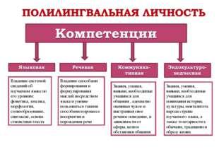 Владение системой сведений об изучаемом языке по его уровням: фонетика, лекси