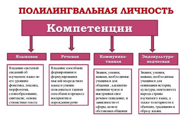 Владение системой сведений об изучаемом языке по его уровням: фонетика, лекси...
