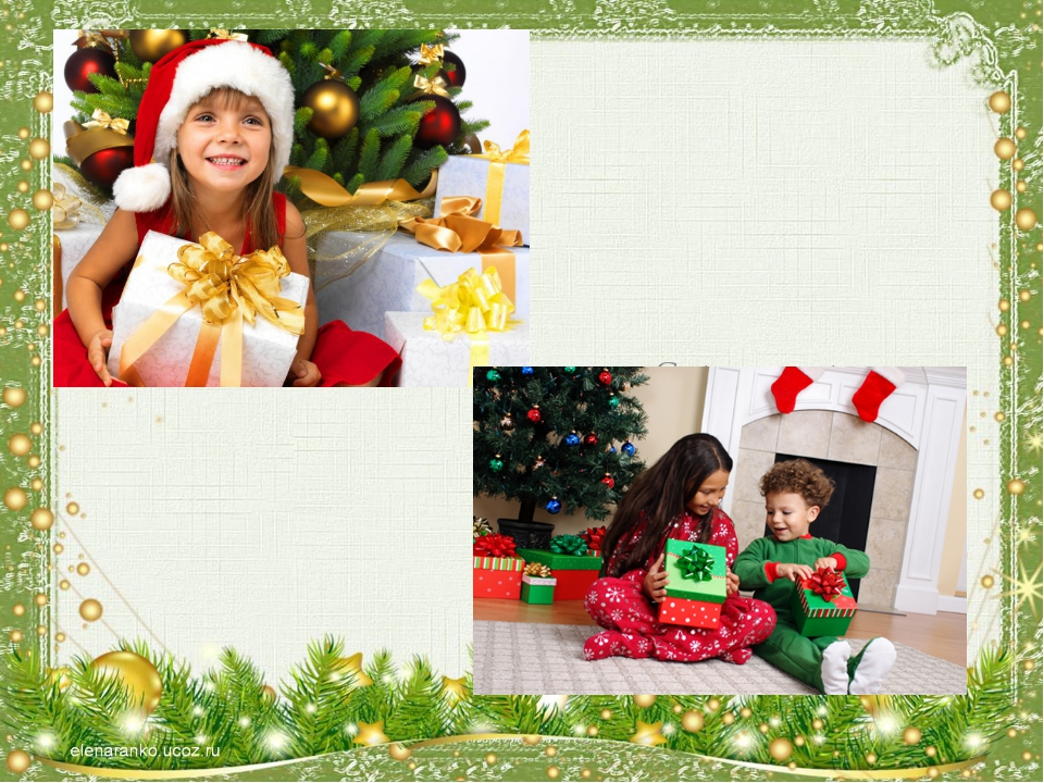 Get presents; Enjoy Christmas