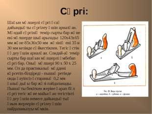 Сүргі: Шағын мөлшерлі сүргі ұсақ дайындықты сүргілеу үшін арналған. Мұндай с