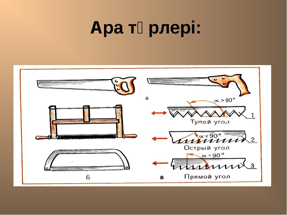 Ара түрлері: