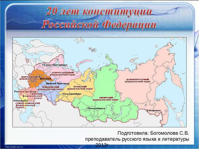 Подготовила: Богомолова С.В. преподаватель русского языка и литературы 2013г.