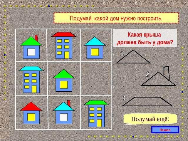 Какая крыша должна быть у дома? Начало Подумай ещё! Подумай, какой дом нужно...