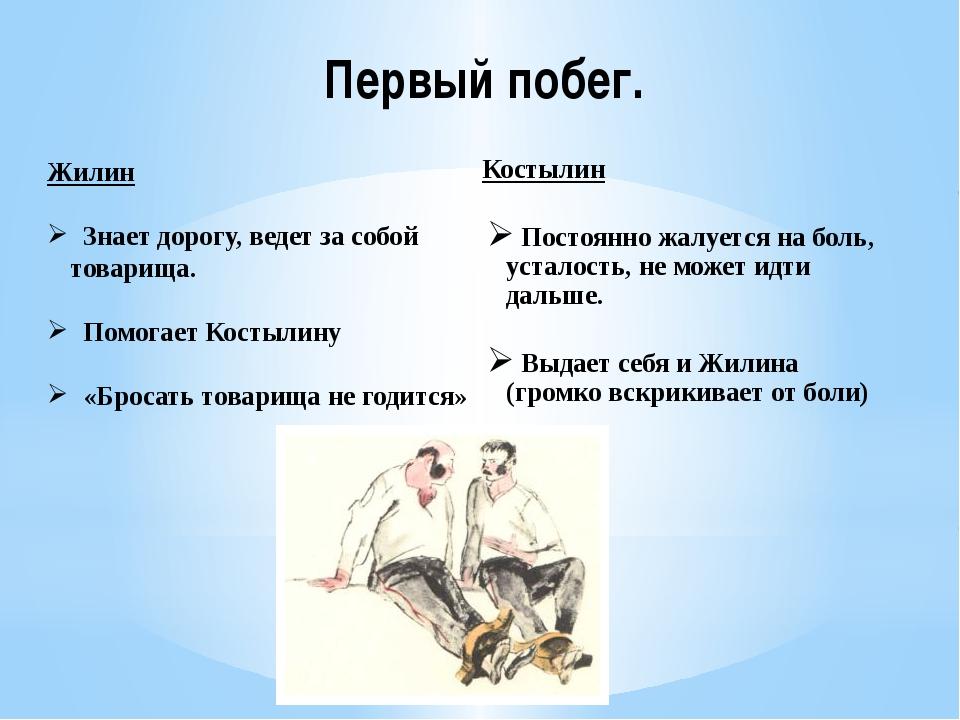 Первый побег. Костылин Постоянно жалуется на боль, усталость, не может идти д...
