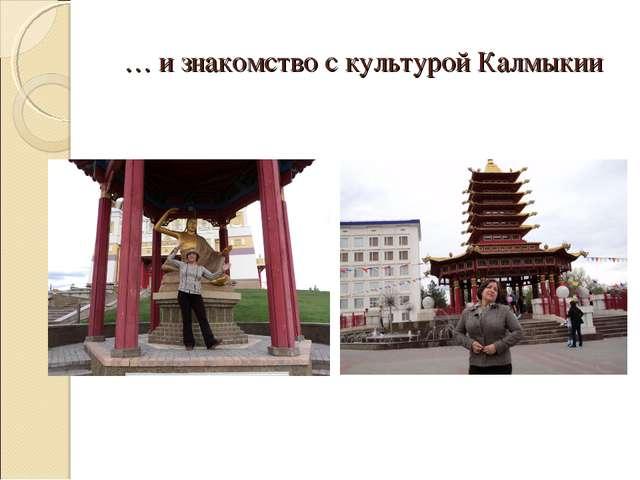 … и знакомство с культурой Калмыкии