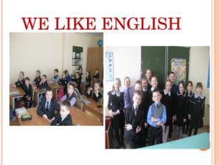 WE LIKE ENGLISH