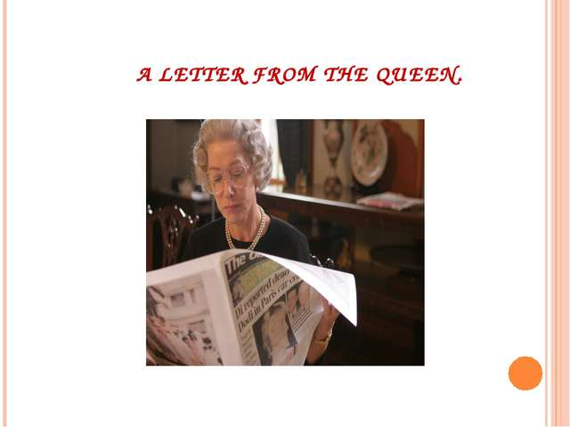 A LETTER FROM THE QUEEN.