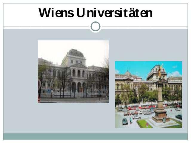 Wiens Universitäten