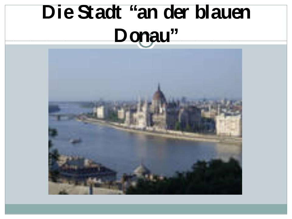 """Die Stadt """"an der blauen Donau"""""""