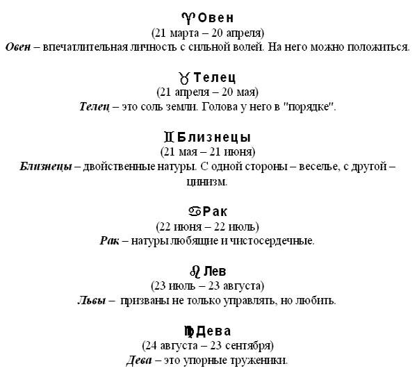 Рис. 2. Образец выполнения задания