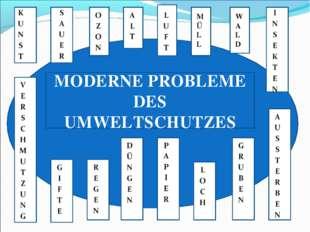 KE I K K WALDWJUHKJ K K K J K J J J J WALD MÜLL MODERNE PROBLEME DES UMWELTSC