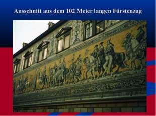 Ausschnitt aus dem 102 Meter langen Fürstenzug