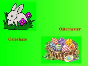 Osterhase Osternester